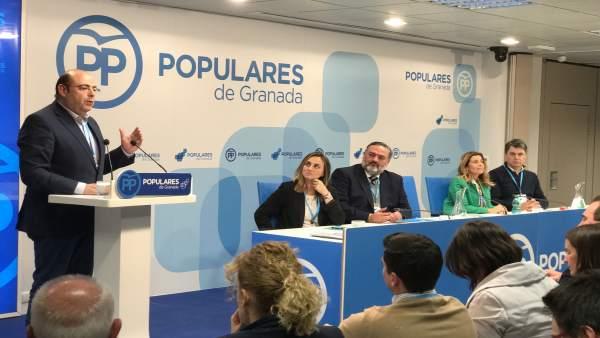 Sebastián Pérez interviene en la junta directiva provincial del PP