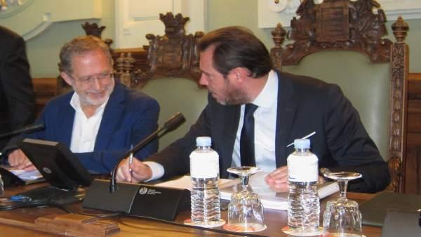 El alcalde de Valladolid y el teniente de alcalde y concejal de Urbanismo