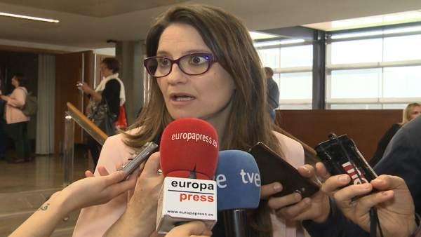 """Oltra sobre plurilingüisme: """"Quan el Ministeri ha vist el conjunt de les mesures, s'ha donat per satisfet"""""""