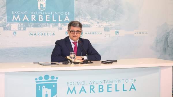 El portavoz del equipo de gobierno de marbella, Javier Porcuna