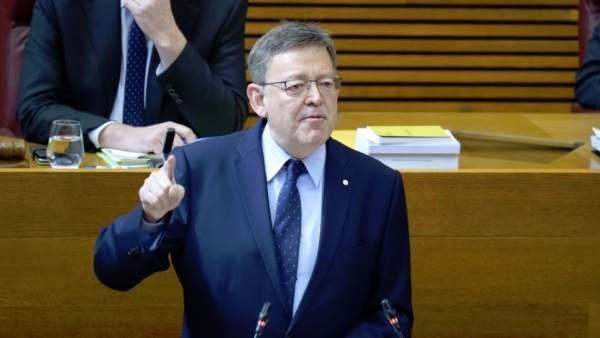 """Puig veu """"indignants"""" els PGE en quedar la Comunitat Valenciana com la regió amb menor inversió per habitant"""