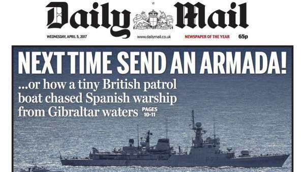 Daily Mail, Gibraltar