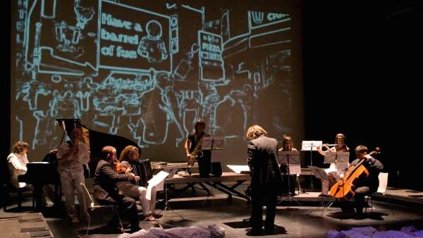 Imagen del estreno de la performance