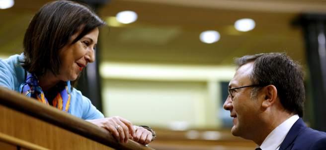 Margarita Robles y Miguel Ángel Heredia