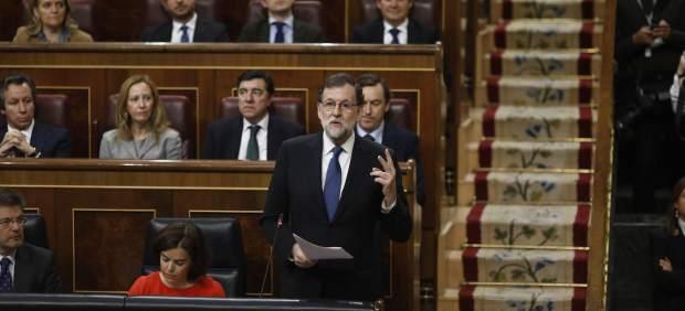 Mariano Rajoy en una sesión de control al Gobierno en el Congreso