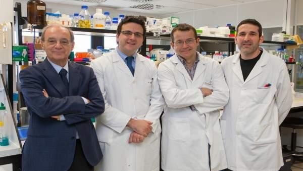 Jesús Prieto, Josepmaría Argemí, Tomás Aragón y Roberto Ferrero