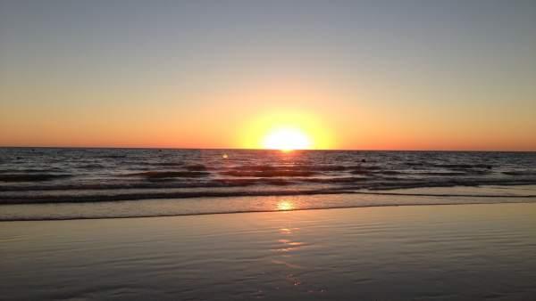 Playa de Regla en Chipiona (Cádiz)