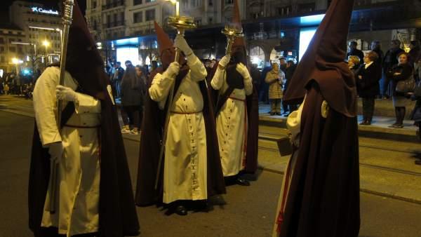 Procesión en Zaragoza, Semana Santa, cofradía, cofradías, cofrades