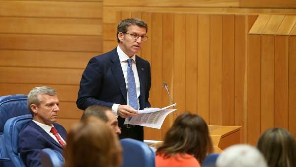 Alberto Núñez Feijóo en el Parlamento