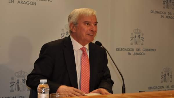 El delegado del Gobierno de Aragón, Gustavo Alcalde.