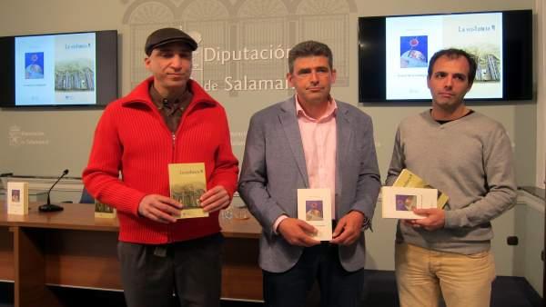 Presentación de los libros en la Diputación de Salamanca