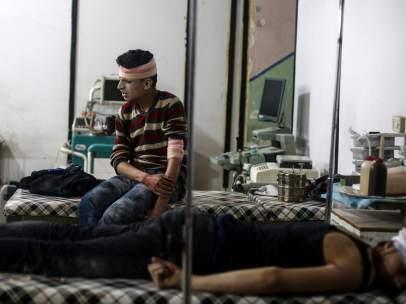 Ataque aéreo en la ciudad siria de Duma