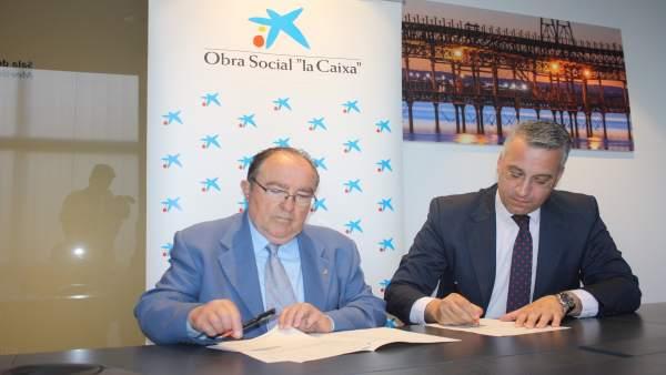 Acuerdo entre el Banco de Alimentos y la Obra Social 'la Caixa'.