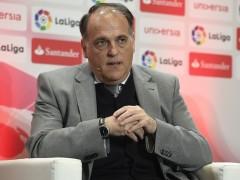 """Javier Tebas: """"No creo que Ramos deba ser sancionado por su gesto a Piqué"""""""