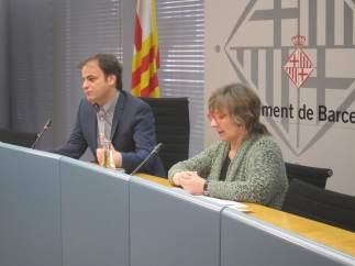 El Teniente De Alcalde Jaume Asens Y La Comisionada Lola López