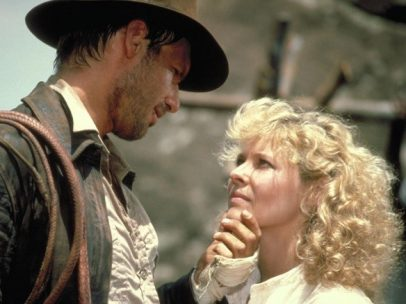 Harrison Ford y Kate Capshaw en Indiana Jones y el templo maldito