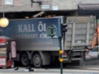 El camión del atentado