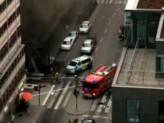 Camión en llamas