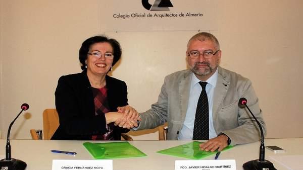 El pita y el colegio de arquitectos firman un convenio - Colegio arquitectos almeria ...