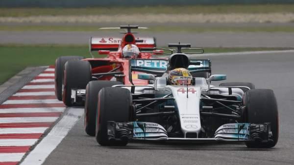Hamilton y Vettel