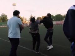 Pelea fútbol base
