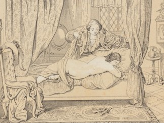 Julius Nisle (German, 1812–1850) - [Casanova and Christine: Amorous Tryst] from Casanova galerie (Gallery of Casanova), Berlin and Munich: Deutscher Kunstverlag, ca. 1850
