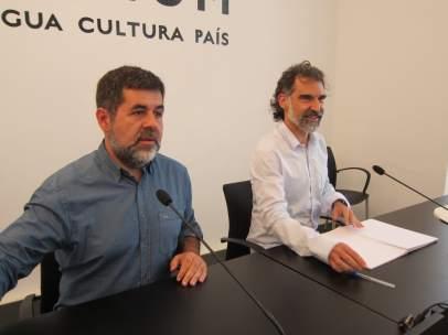 Jordi Sànchez (ANC) Jordi Cuixart (Òmnium).