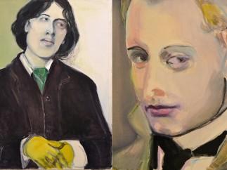 Oscar Wilde (izquierda) y Lord Alfred Douglas (Bosie), Marlene Dumas, 2016