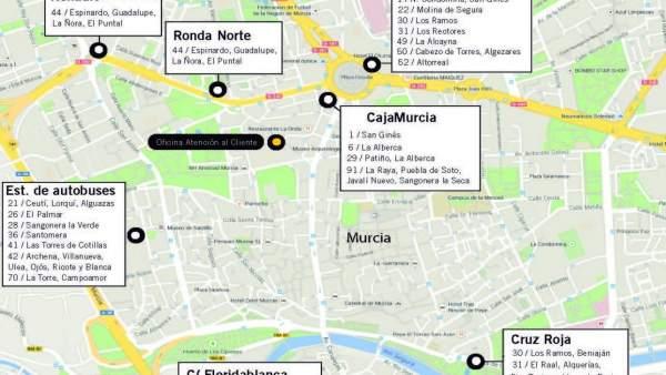 Horarios especiales de las líneas de autobuses interurbanos durante las Fiestas