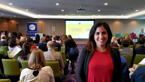 El Centro de Información Europea de Diputación de Huelva en unas jornadas format