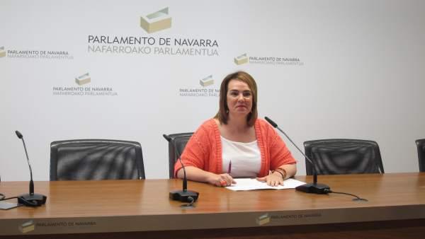 La presidenta del Parlamento de Navarra, Ainhoa Aznárez.