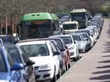 Tráfico denso en el Jueves Santo