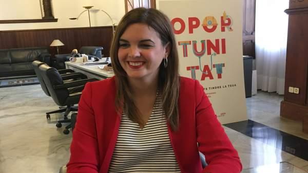 La primera teniente de alcalde y portavoz socialista en València, Sandra Gómez