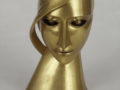 Rudolf Belling - Head in Brass, 1925