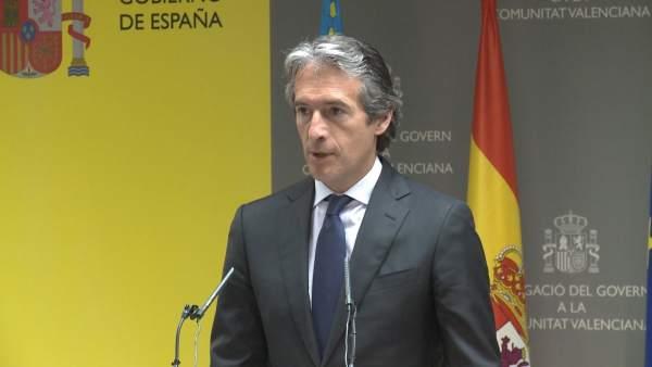 """De la Serna diu que inversions de 2017 són """"suficients"""" per als compromisos amb Comunitat Valenciana i en 2018 creixeran"""
