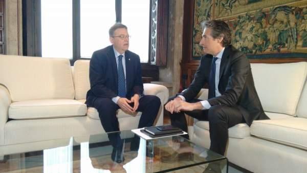 """Puig es reunirà amb De la Serna el 27 d'abril i insisteix que els PGE han de """"tornar als corrals"""""""