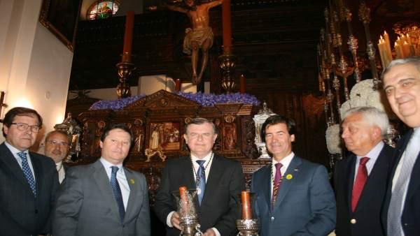 Acto de la CES ante el Crsito de Burgos.