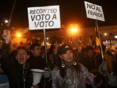 Protesta tras elecciones en Ecuador