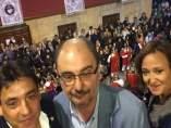 Javier Lambán participa en la rompida de la hora de Samper de Calanda
