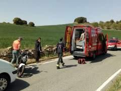 Accidente en Tafalla.