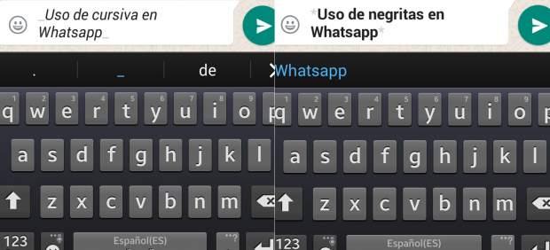 Formato en textos de Whatsapp