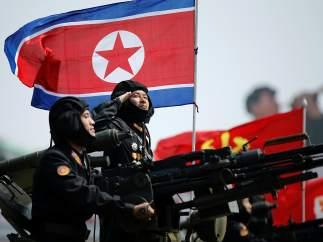 Desfile del Día del Sol en Corea del Norte