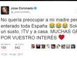 Tuit de José Coronado