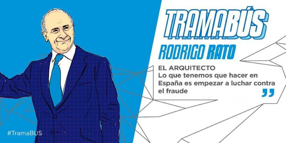 Rodrigo Rato. Rodrigo Rato, el arquitecto. Experto en parasitar instituciones, privatizando y sacando suculentas tajadas de dinero público.