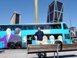 Pablo Iglesias antes de subir al 'tramabús'