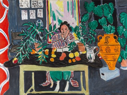 Interior with an Etruscan Vase, Henri Matisse (French, 1869–1954), 1940 - Vase, Artist Unknown, Andalusia, Spain, early 20th century