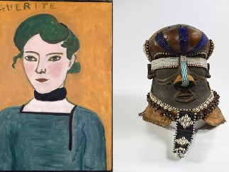 Marguerite, Henri Matisse (French, 1869–1954), 1906–1907. Mboom mask, Artist Unknown. Kuba kingdom, Democratic Republic of the Congo, 19th‑early 20th century. Self‑Portrait, Henri Matisse,1906