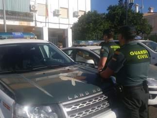 Agente de la Guardia Civil en Lepe (Huelva).