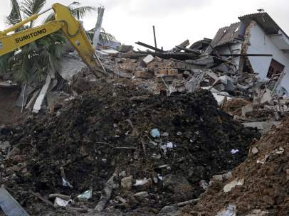 Derrumbe de un vertedero en Sri Lanka.