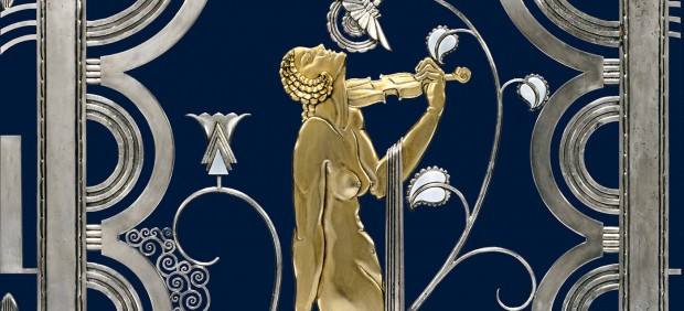 Muse with Violin Screen (detail), 1930. Rose Iron Works, Inc. (American, Cleveland, est. 1904). Paul Fehér (Hungarian, 1898–1990), designer
